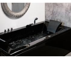 Vasca da bagno idromassaggio versione sinistra color nero VARADERO