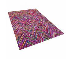 Tappeto shaggy multicolore in tessuto - 160x230cm - KARASU
