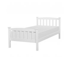 Letto singolo in legno in color bianco, 90x200cm GIVERNY