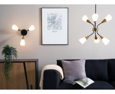 Lampadario a 6 punti luce in metallo bianco/oro AROYO VI