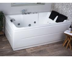 Vasca da bagno con idromassaggio e LED versione destra PENSO