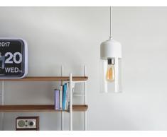 Lampada da soffitto nera in vetro e metallo bianco - PURUS