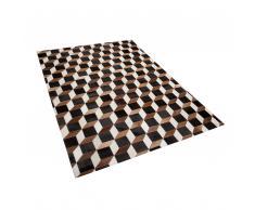 Tappeto in pelle bovina in color marrone 160 x 230 cm ALPKOY