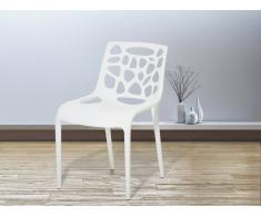 Set di 2 sedie da pranzo in plastica bianca MORGAN