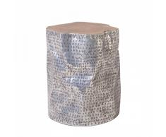 Tavolino basso da caffè - Tavolino cilindrico in legno - GORDON