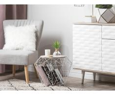 Tavolino colore bianco in legno marrone ELIDA