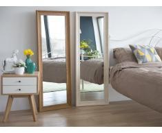 Specchio moderno da parete con cornice bianca - 51x141cm - SIGNES