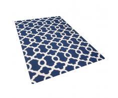 Tappeto rettangolare blu - Tappeto moderno di design - 140x200cm - ZILE