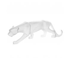 Statuetta decorativa color bianco PANTHER