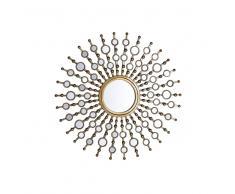 Specchio da parete dorato ø70 cm BLOIS