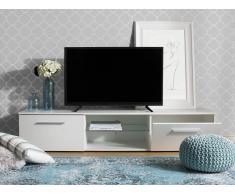 Mobile Tv bianco con illuminazione LED KEFLAVIK
