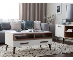 Tavolino da caffè in colore bianco e noce ALLOA