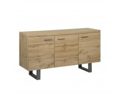 Credenza a 3 ante colore legno naturale TIMBER