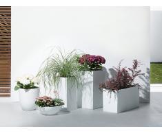 Vaso da fiori bianco opaco da esterno - 38x38x70cm - WENER