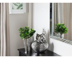 Vaso decorativo color argento DALDIS
