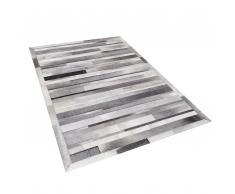 Tappeto in pelle grigio chiaro 140 x 200 cm AZAY