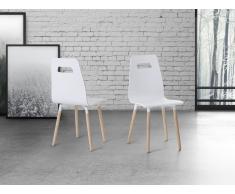Sedia da pranzo in legno bianco - BOVIO