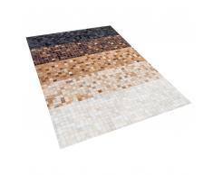 Pelle tappeto nero / marrone 160 x 230 cm TERME