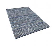 Tappeto blu in cotone - 160x230cm - ALANYA