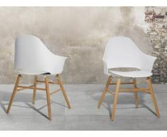 Sedia bianca - Sedia da giardino - Sedia in plastica - Sedia da pranzo di design - BOSTON