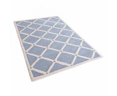 Tappeto rettangolare azzurro - Tappeto moderno di design - 80x150cm - DALI