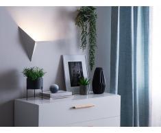 Lampada da muro in metallo bianco BRIANCE