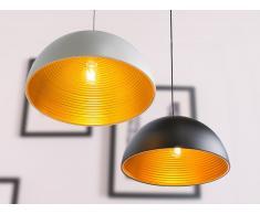 Lampada da soffitto bianca opaca e color oro - GRAND