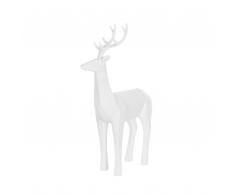 Statuetta decorativa color bianco opaco PRANCER