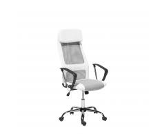 Sedia da ufficio bianco-grigia con altezza regolabile PIONEER