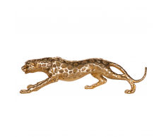Statuetta decorativa in color oro LEOPARD