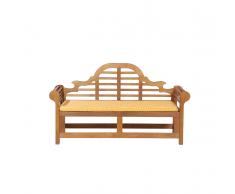 Panchina legno Balau bianco alta qualità e cuscino giallo 180cm JAVA Marlboro