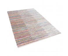 Tappeto multicolore in cotone - 140x200cm - MERSIN