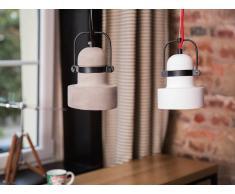 Lampada da soffitto moderna bianca - Lampadario di design in cemento - VERDE