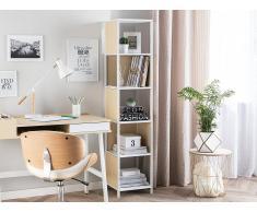 Libreria bianca con parti in legno chiaro BOGOTA