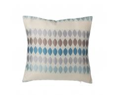 Cuscino decorativo a gocce 45 x 45 cm blu/grigio