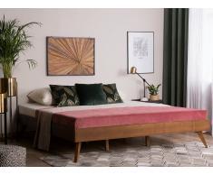 Letto in legno marrone scuro 160 x 200 cm BERRIC