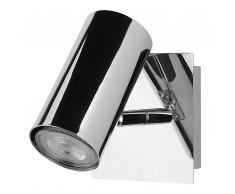 Lampada da muro in color argento ROSETTA
