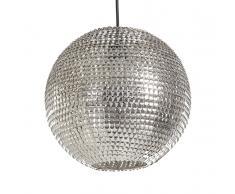 Lampada da soffitto con paraluce in metallo color nichel - SEINE