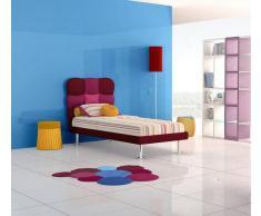 Flow Fusion Design Letto Singolo Melania Bordeaux