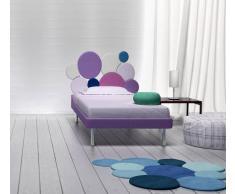 Flow Fusion Design Letto Singolo Round Violetto