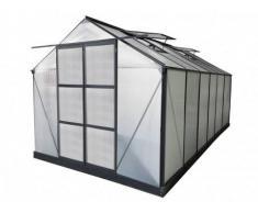 Unique Serra da giardino in policarbonato de 13 m² KALIDA con perimetro - antracite