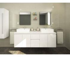 Unique Mobili da bagno LAVITA II sospesi doppio lavabo e specchi - Bianco
