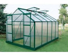 Unique Serra da giardino in policarbonato da 9 m² COROLLE II con base - verde