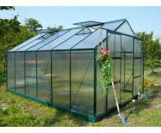 Unique Serra da giardino in policarbonato de 13 m² KALIDA con perimetro - verde