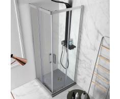 Vanity z z box doccia ad angolo con doppia anta scorrevole