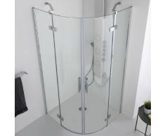 Tamanaco INFINITY - Box doccia semicircolare con doppia porta battente