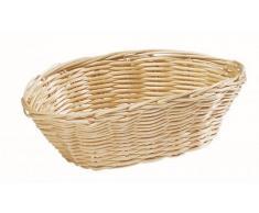 Cestino per pane ovale in Rattan Dimensioni mm. L 180 x P 130 x 60 h Modello 2851