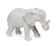 Maisons du monde Statuetta elefante effetto sbiancato H.19 cm TOLUCA
