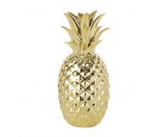 Maisons du monde Statuetta ananas dorata H 23 cm