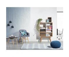 Libreria armadio moderno bianco e marrone - WRANGELL